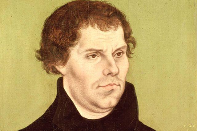 Мартин Лютер. Портрет работы Лукаса Кранаха Старшего. 1526 г.