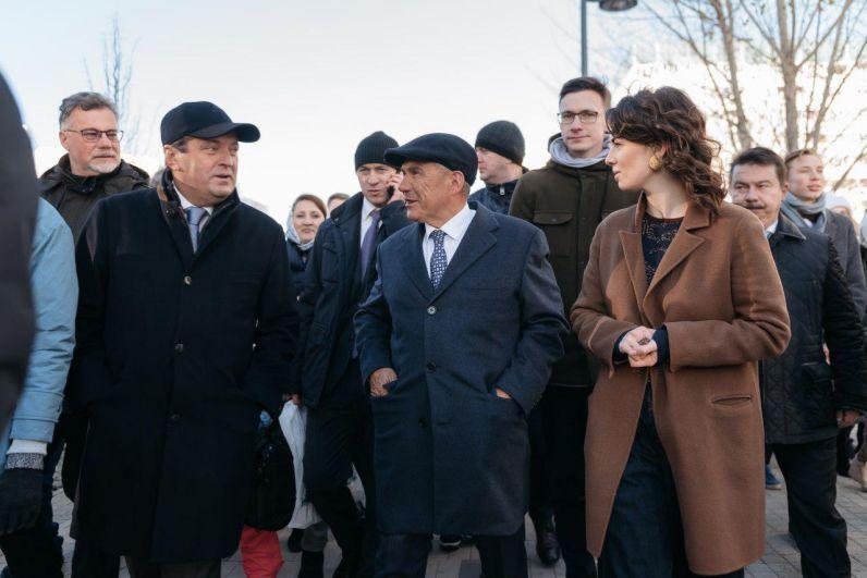 В открытии приняли участие президент РТ Рустам Минниханов, мэр Казани Ильсур Метшин, помощник по общественным пространствам Наталия Фишман.