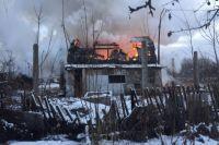 Сгоревший дачный дом