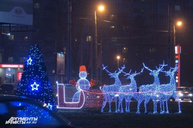 Мэрия выплатит премии за лучшее новогоднее оформление зданий в Калининграде.