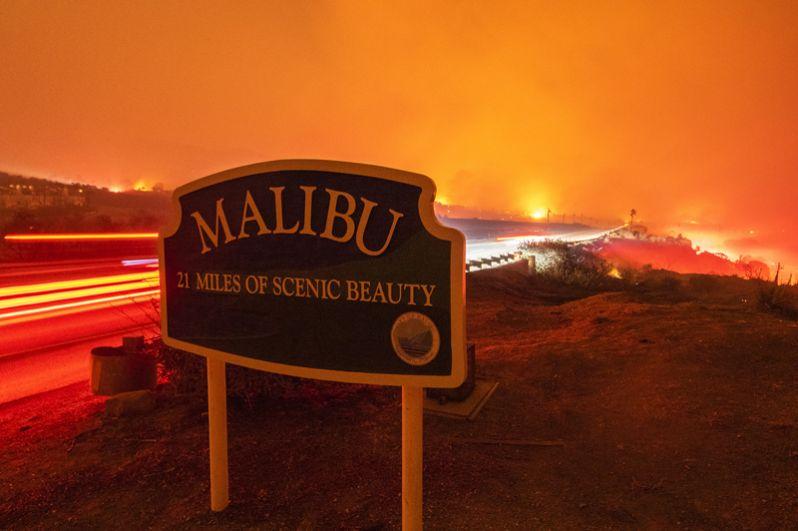 Пожар Вулзи в Малибу.