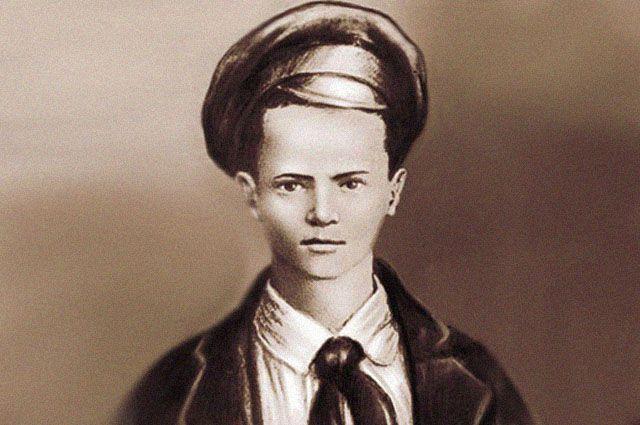 Портрет Павлика Морозова, созданный на основе единственной известной фотографии, на которой он был запечатлён.