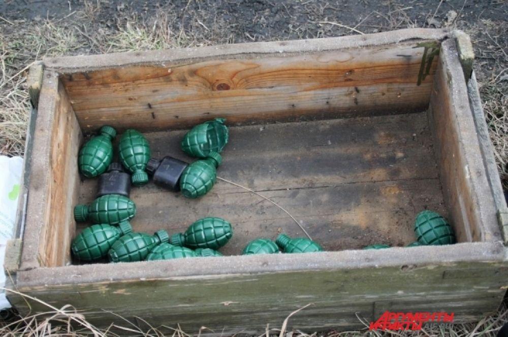 Один этапов включал в себя метание гранаты.