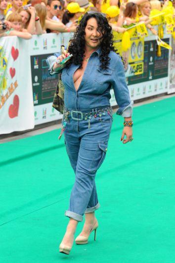 Лолита Милявская на ковровой дорожке ежегодной национальной премии в области популярной музыки «Муз-ТВ», 2014 год.