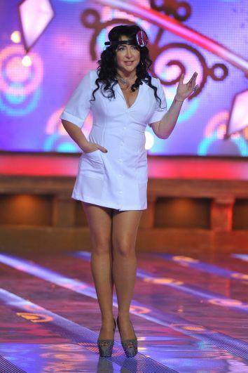 Лолита Милявская во время съемок шоу «Новогодний парад звезд», 2013 год.