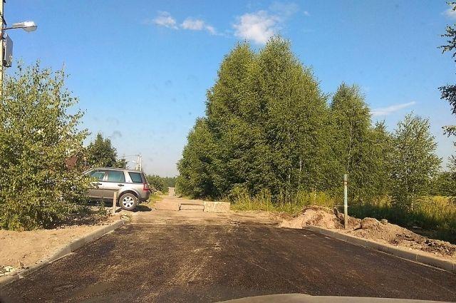 Этим летом новую дорогу частенько перегорождали сами жители Залесного.