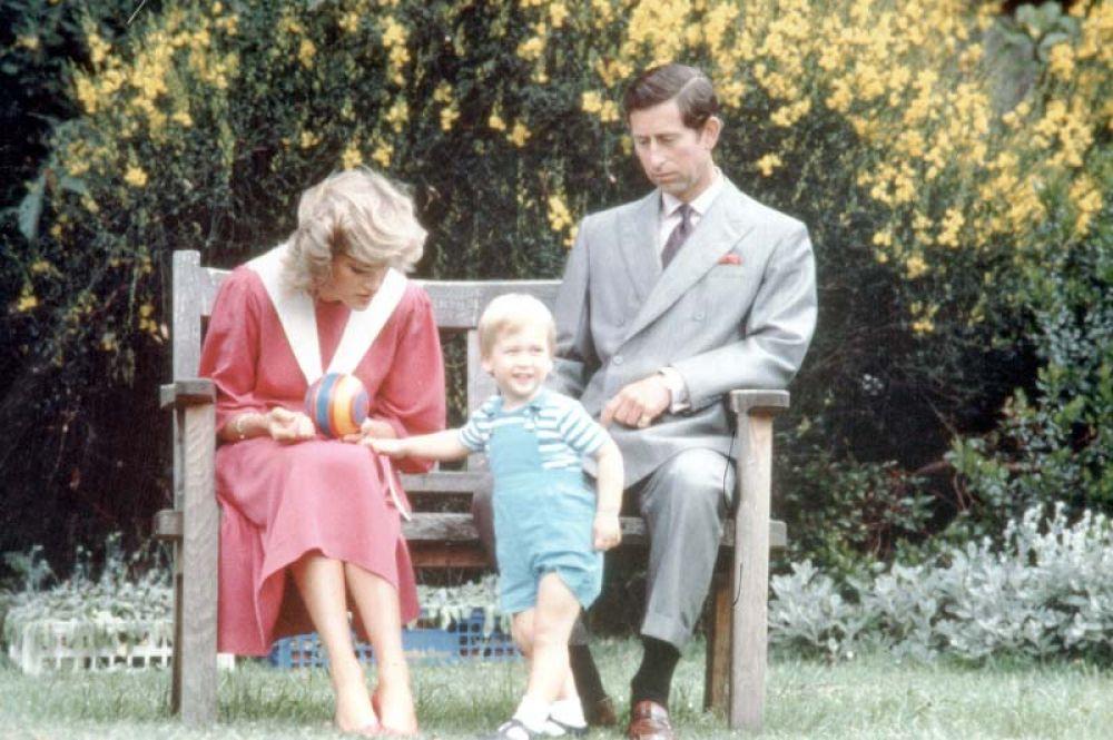 Принц Чарльз и принцесса Диана с сыном Уильямом. 1991 год.