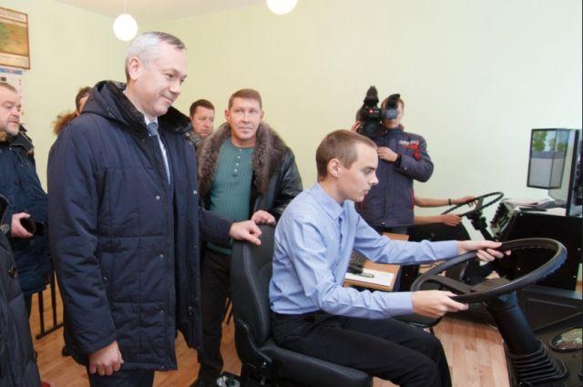 Андрей Травников в Маслянино.