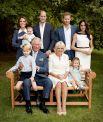 Семейный портрет ко дню рождения принца Уэльского. 2018 год.