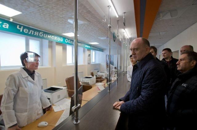В этом году прошла реконструкция поликлиники областной клинической больницы. С результатами ознакомился губернатор Борис Дубровский.
