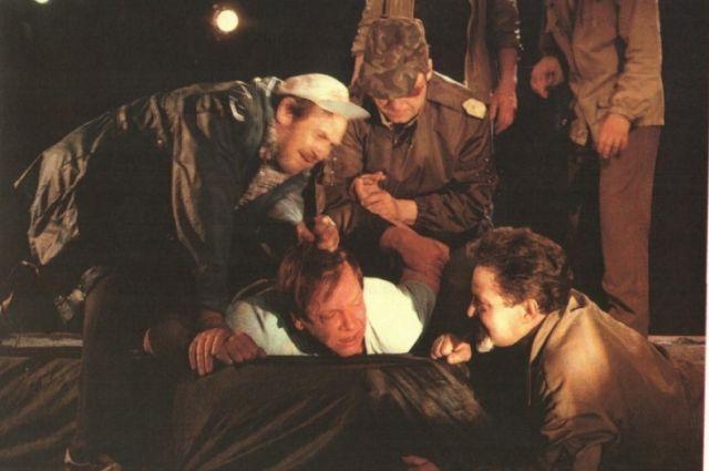Сцена из спектакля «Плаха»