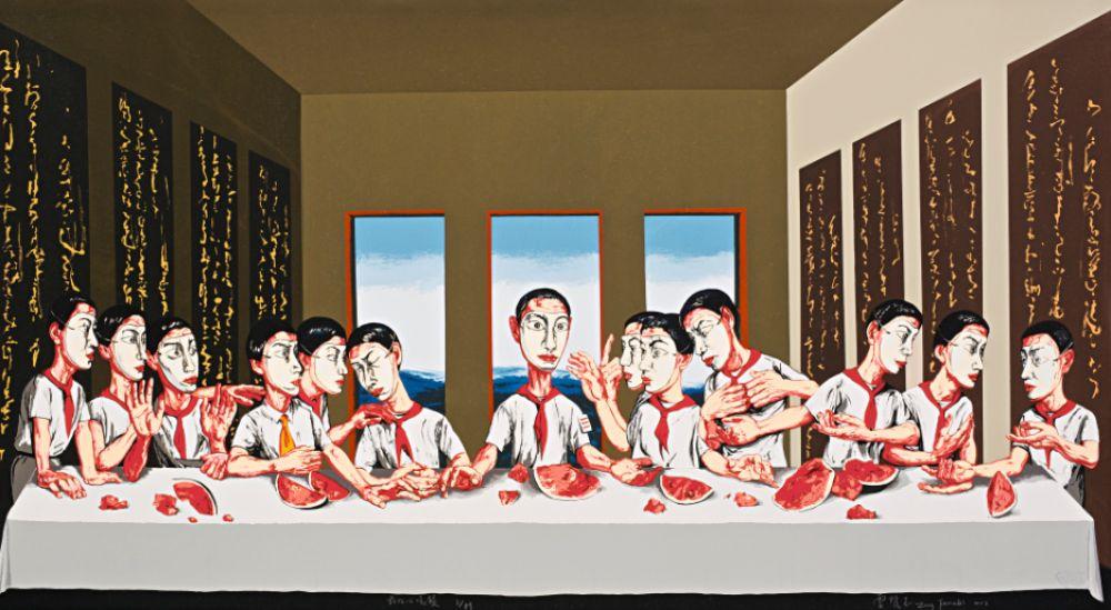 В топ самых дорогих живых художников попал китайский автор Цзэн Фаньчжи. В 2013 году его «Тайная вечеря», вдохновленная полотном Леонардо да Винчи, ушла с молотка за 23 млн долларов.