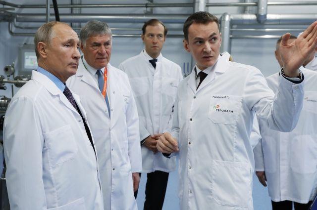 Путин побывал на новом заводе ведущего производителя инсулинов в РФ