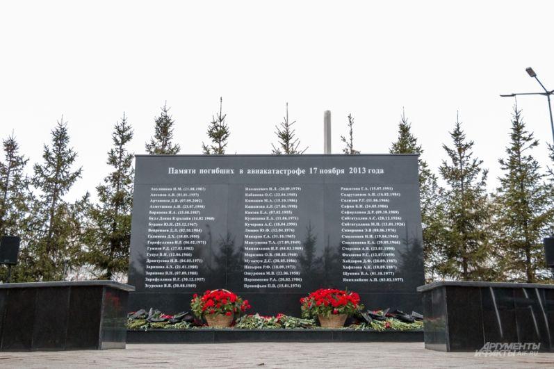 Мемориальный комплекс был открыт на территории казанского аэропорта в 2014 году, спустя год после авиакатастрофы.