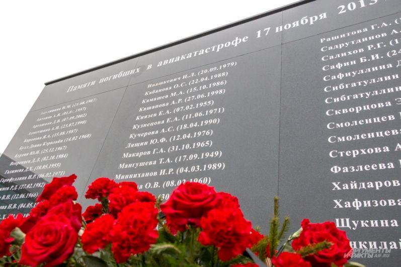 Всех жертв перечислили поименно. В списке - глава УФСБ по Татарстану, сын президента Татарстана, известные врачи Казани.