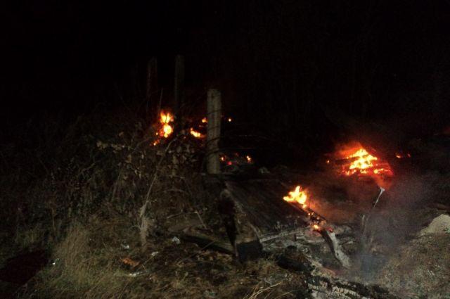 В результате пожара в с.Новоякупово пострадал человек.