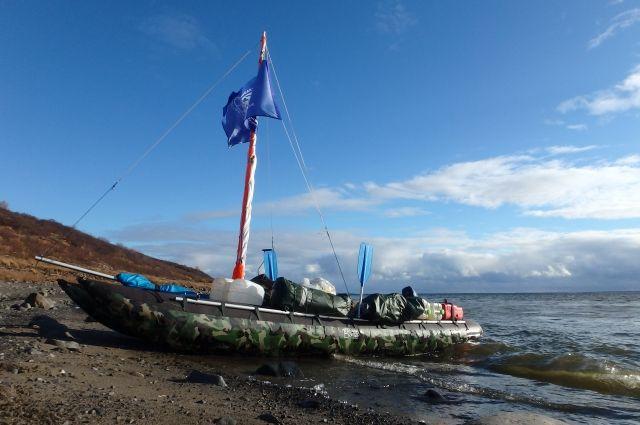 По северным рекам - на парусном катамаране в поисках затонувших кораблей.