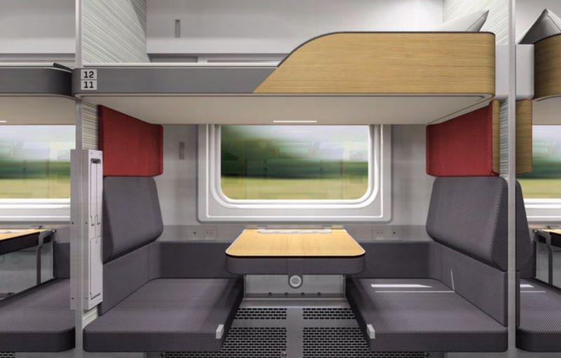 Новый дизайн предусматривает больше индивидуального пространства для пассажиров.