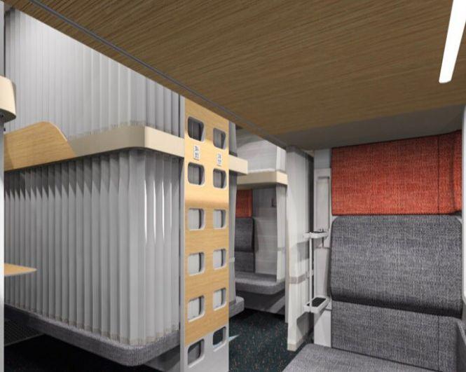 Каждое место оборудовано плотными шторами, которые можно закрыть и полностью отгородить свое место от других пассажиров.