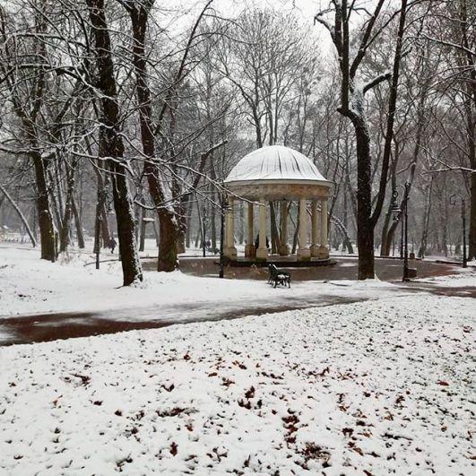Какая же красота вокруг. Очень снежная и просто сказочная!