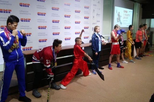 Юные спортсмены - участники проекта «Герои с нашего двора»