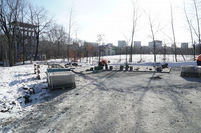 Реконструкция парка «Динамо» в городе завершится к 25 декабря.