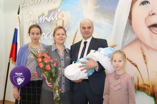 Многодетная семья из Курьи