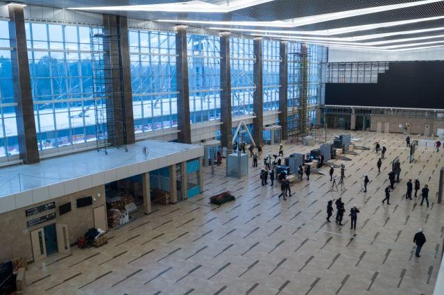 В аэропорту отрабатывали нештатную ситуацию.