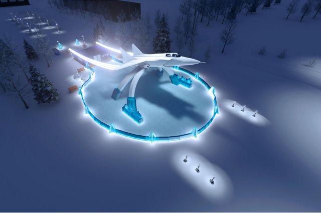 Размер ледовой площадки составит 1300 кв. метров.