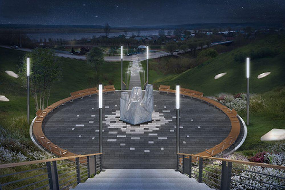 А это - макет будущего памятника чернобыльцам в Мамадыше. Он должен появиться в следующем году.