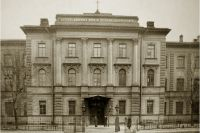 Главный фасад здания Детской больницы принца П.Г. Ольденбургского, 1912. Сейчас - Больница им. К.А. Раухфуса.