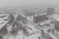 Метель в Новосибирске не утихает все выходные.