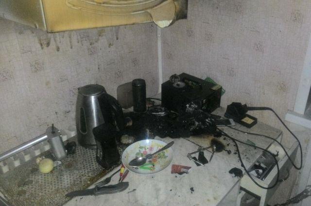 Эпицентр взрыва находился на кухонном столе.