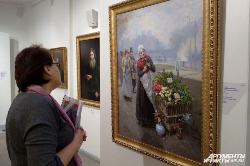 Владимир Николаевич Пчёлин (1869—1941) рисал жанровые картины и пейзажи. В Калининграде выставлена его работа «Продавщица цветов в Париже».