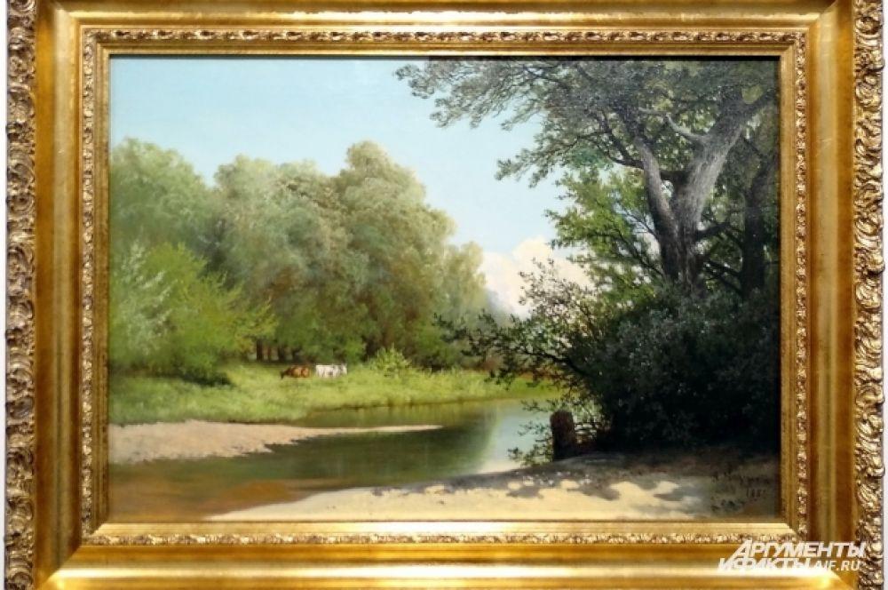 Арсений Иванович Мещерский всегда себя считал «рисовальщиком» природы. Зима и лесные чащи - любимые мотивы в творчестве художника. Работа «Лесной ручей».