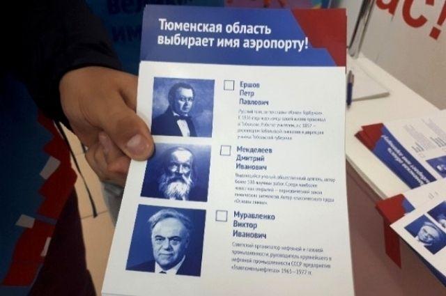 57% тюменцев проголосовали за присвоение аэропорту Рощино имени Менделеева
