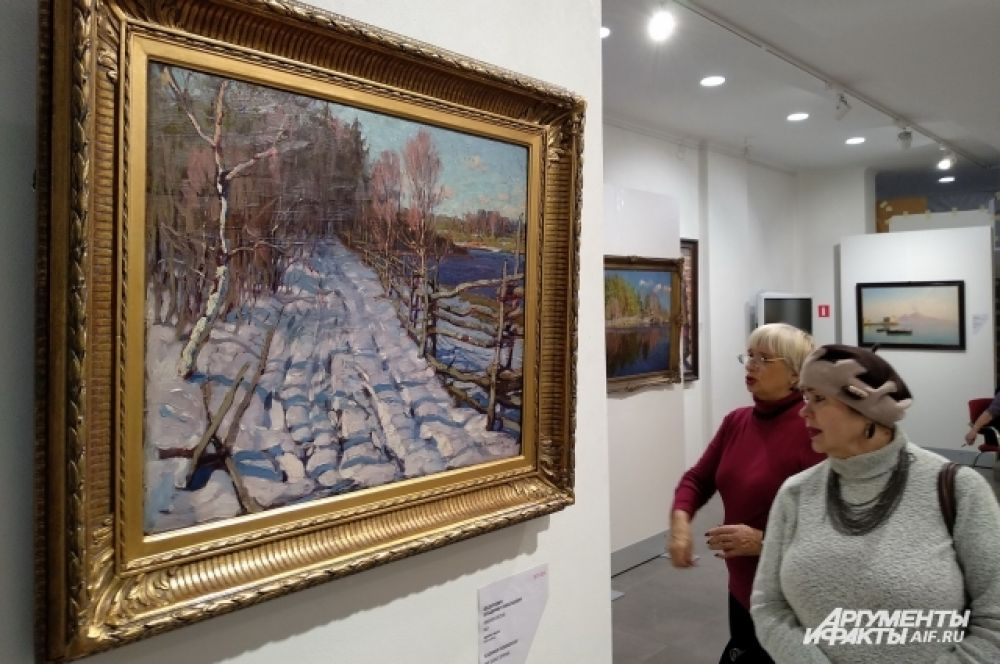 Работа живописца и графика Владимира Федоровича «Ранняя весна» (1922 год).