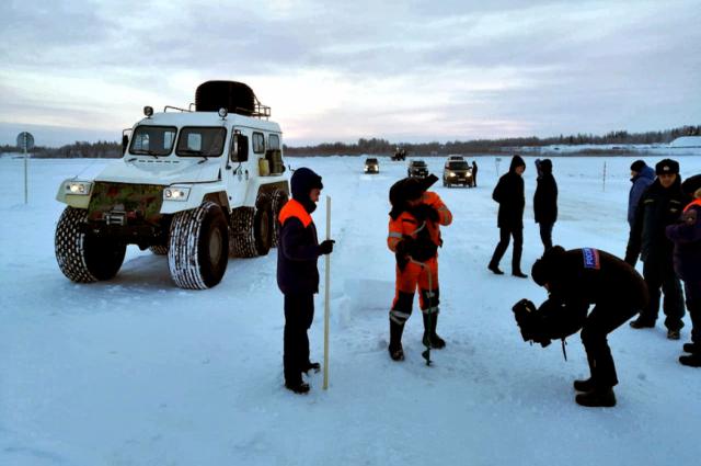 На Ямале открылась ледовая переправа «Салехард – Лабытнанги»