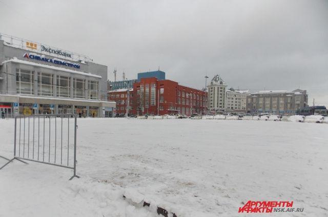 Через три недели здесь появится снежный городок.