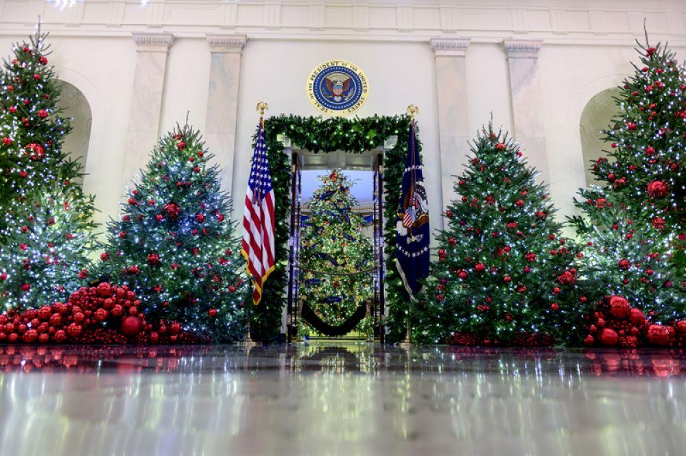 Рождественское оформление Белого дома.