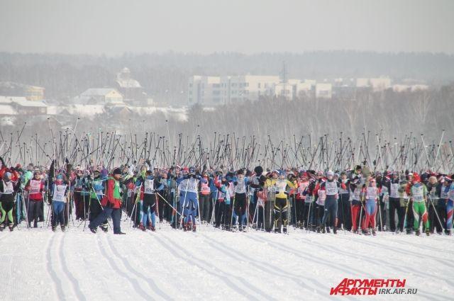 Лыжники будут соревноваться в центре города.