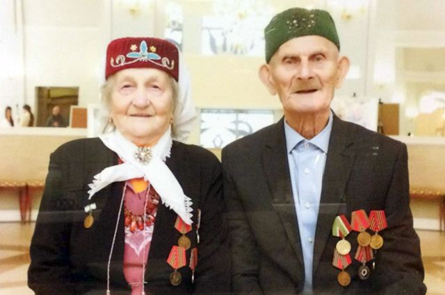 70 лет вместе живут Зайнап и Ибрагим Гиниятовы.