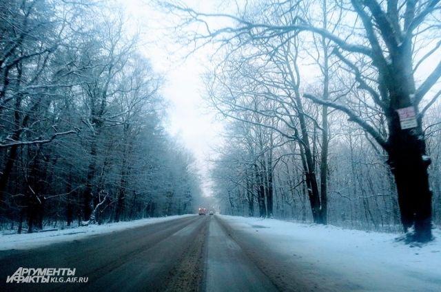 На уборку дорог Калининградской области от снега вышло 57 машин.