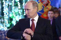 31 декабря 2013. Президент России Владимир Путин во время новогоднего обращения к россиянам в Хабаровске.