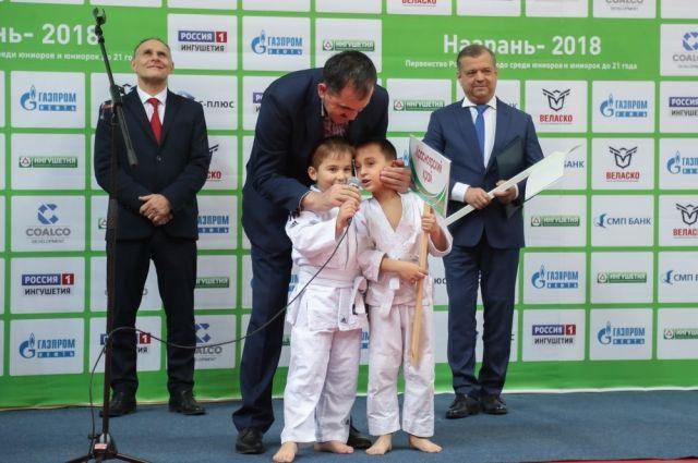 Торжественное открытие первенства России среди юниоров и юниорок по дзюдо.