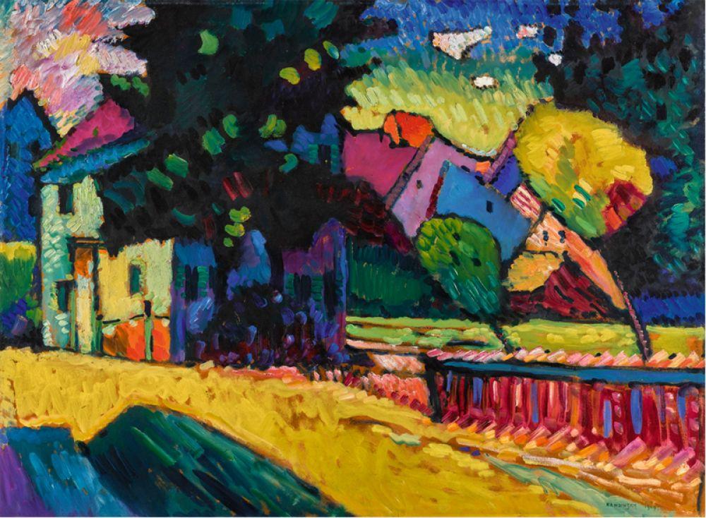 «Мурнау — пейзаж с зеленым домом» (1909), Василий Кандинский. В июне 2017 года на Sotheby's рекорд на работы этого автора был побит дважды. Две картины художника ушли с молотка в течение 22 минут. Одна из них — пейзаж в Мурнау — была продана за 26,7 млн долларов.