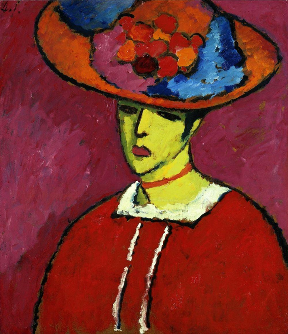 «Шокко в широкополой шляпе» (1910), Алексей фон Явленский. Картина русского художника-экспрессиониста, жившего и работавшего в Германии, в 2008 году на аукционе Sotheby's ушла с молотка за 18,6 млн долларов.