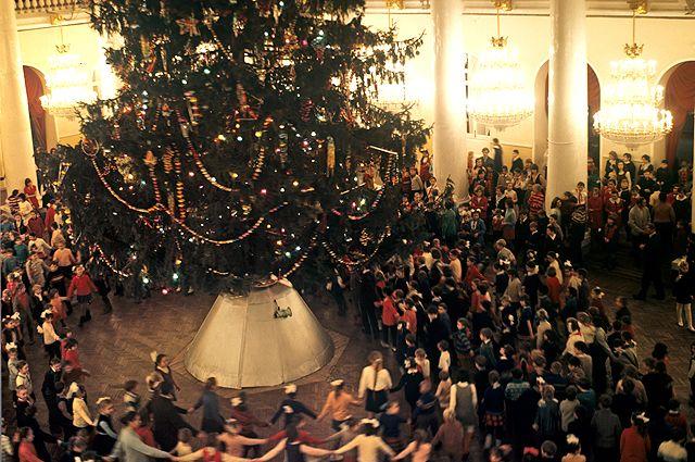 Детский новогодний праздник в Колонном зале Дома союзов. 1973 г.