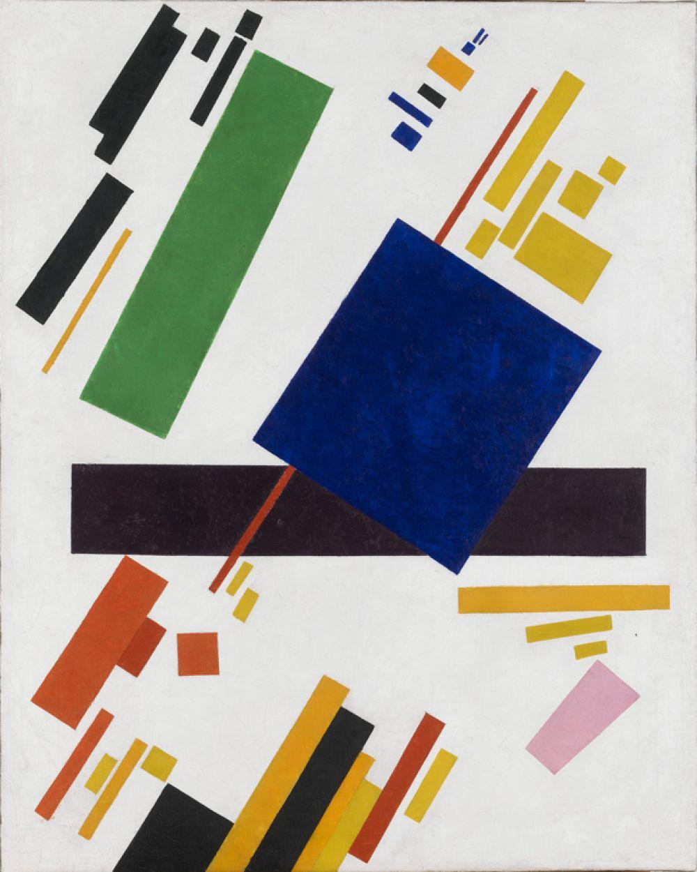 «Супрематическая композиция» (1918), Казимир Малевич. 16 мая 2018 года на аукционе Christie's в Нью-Йорке была продана за 85,8 млн долларов.