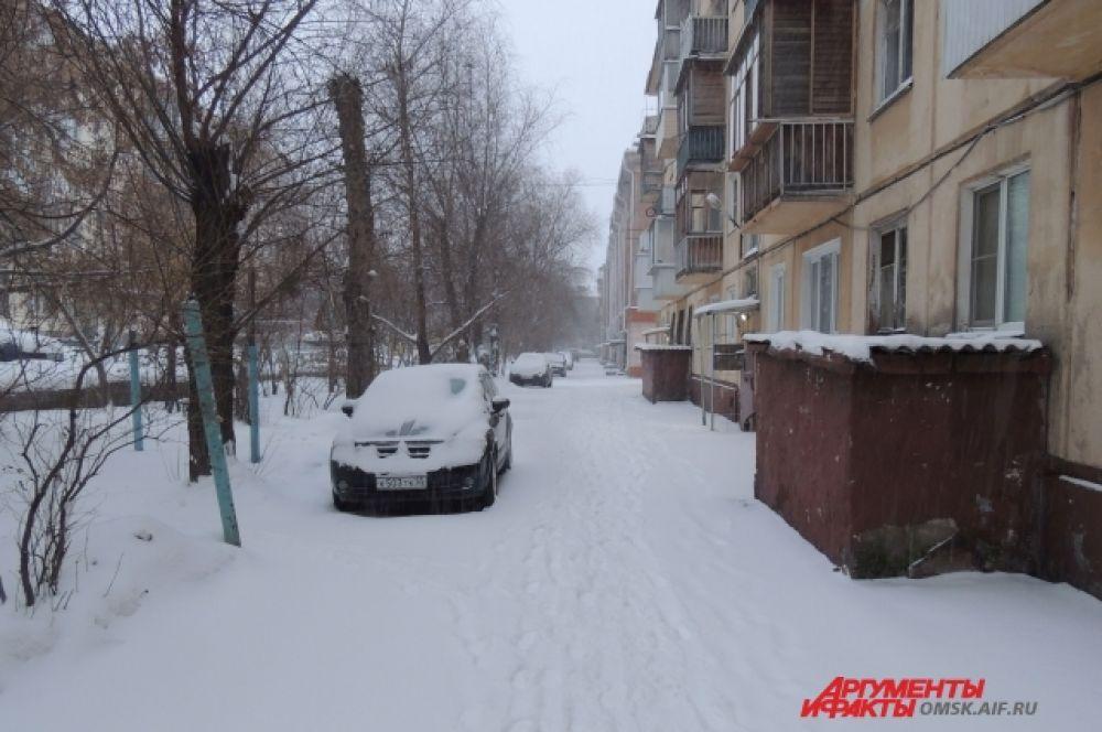 Утро. Снег есть, метели пока нет